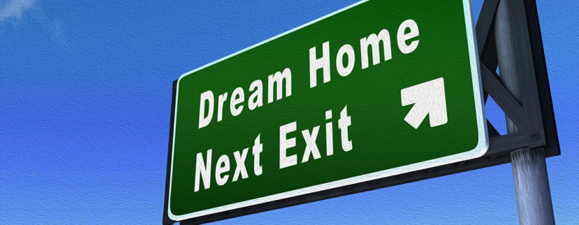Dream Home Next Exit - Freeway Signage Angled Solo