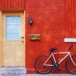 Red Building with a Bike